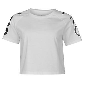USA Pro Womens Cropped T Shirt Tee Top Short Sleeve Round Neck Lightweight