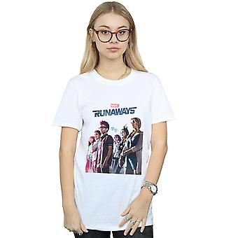 Marvel vrouwen weglopers Misty Poster Boyfriend Fit T-Shirt