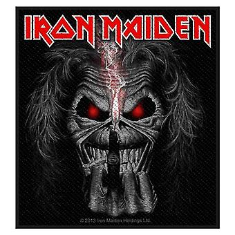 Iron Maiden Patch Eddie Candle Finger Logo Official New Black Woven (10cm x 9cm)