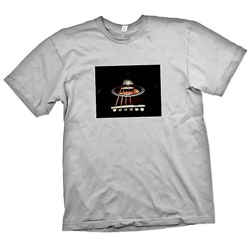 Mens T-shirt-Akustik-Gitarrensaiten