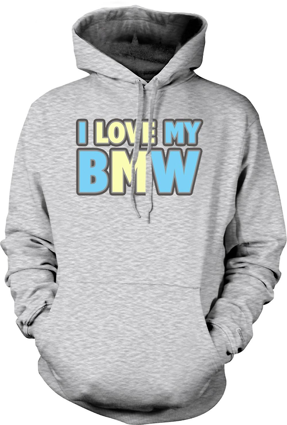 Mens Hoodie - I Love My BMW - Car Enthusiast