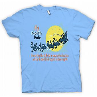 Fly North Pole Air - Funny Santa T Shirt