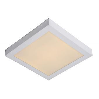 Lucide Brice-LED Modern Square Aluminum White Flush Ceiling Light