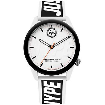 Hype   Mens   White And Black Silicone Strap   HYU018BW Watch