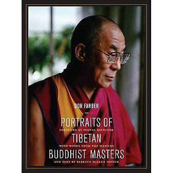 Retratos de maestros budistas tibetanos