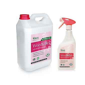 RHS 1L+5L Weed killer | Advanced Glyphosate Free Formula | Effective within 24h