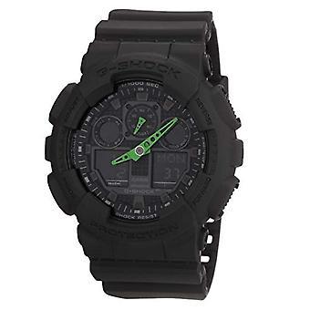 Casio men's analog-to-digital Watch with black resin strap GA-100C-1A3ER