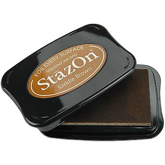 StazOn Solvent Ink Pad-Saddle Brown