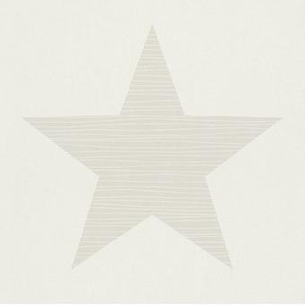 Chambre Beige/WhiteRasch Wallpaper Star Big Stars enfants adolescence enfants