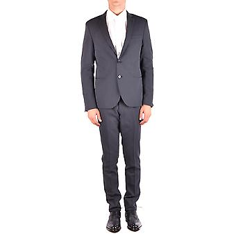 Manuel Ritz Black Polyester Suit