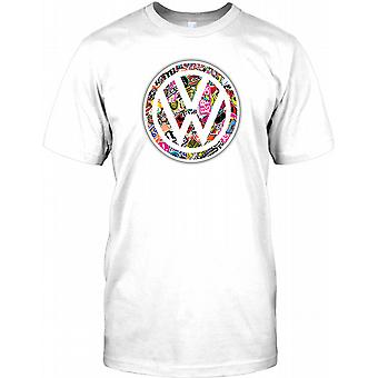 VW Emblem Collage - Cool Dub Mens T Shirt