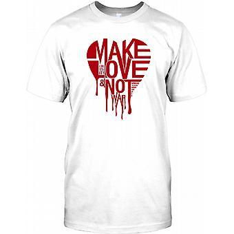 Make Love Not War - Cool Anti War Kids T Shirt