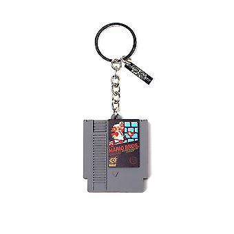 Super Mario NES Game Cartridge 3D Keyring