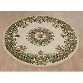 Rugs - Mahal Round - Cream & Green