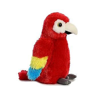 Aurora World Mini Flopsie Toy Scarlet Macaw Parrot Plush, 8