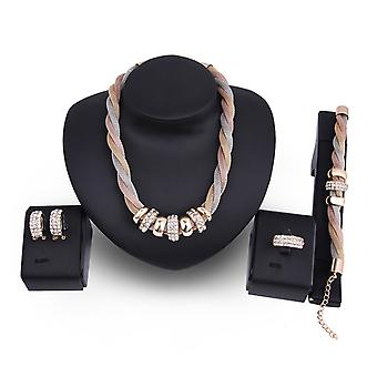 Trinity rope necklace set