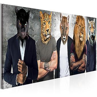 Canvas print-verschillende gezichten (1 deel) smal