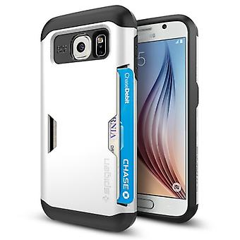 Spigen Samsung Galaxy S6 Slim Armor CS Card Slider Series Shimmery White