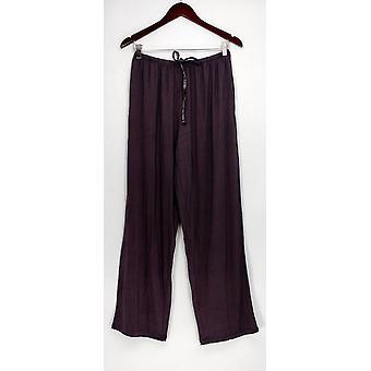 Carole Hochman Women's Lounge Pants Modal Spandex Satin Brown A292529