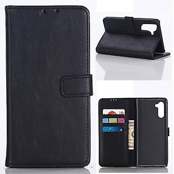 Samsung Galaxy Note 10 Retro Brieftasche Fall-Schwarz
