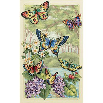 Gold Collection Butterfly Forest Counted Cross Stitch Kit 10