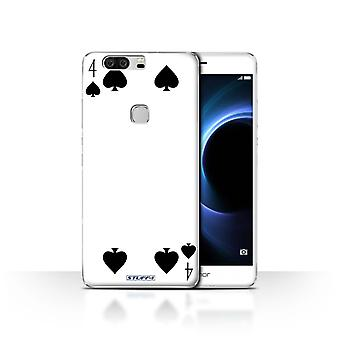 STUFF4 Case/Cover for Huawei Honor V8/4 of Spades/Playing Cards
