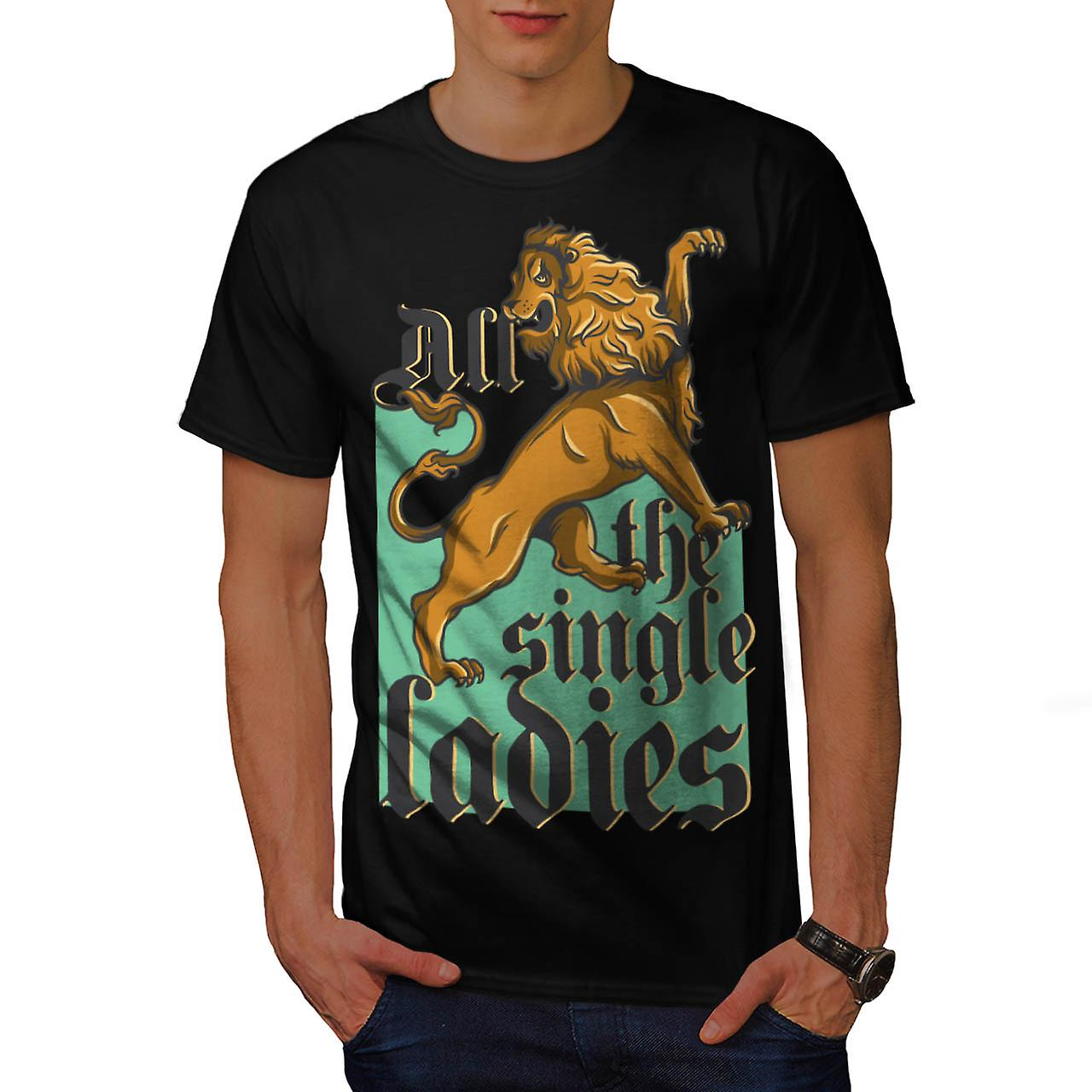 Single Ladies Lion Song Parody Men Black T-shirt | Wellcoda