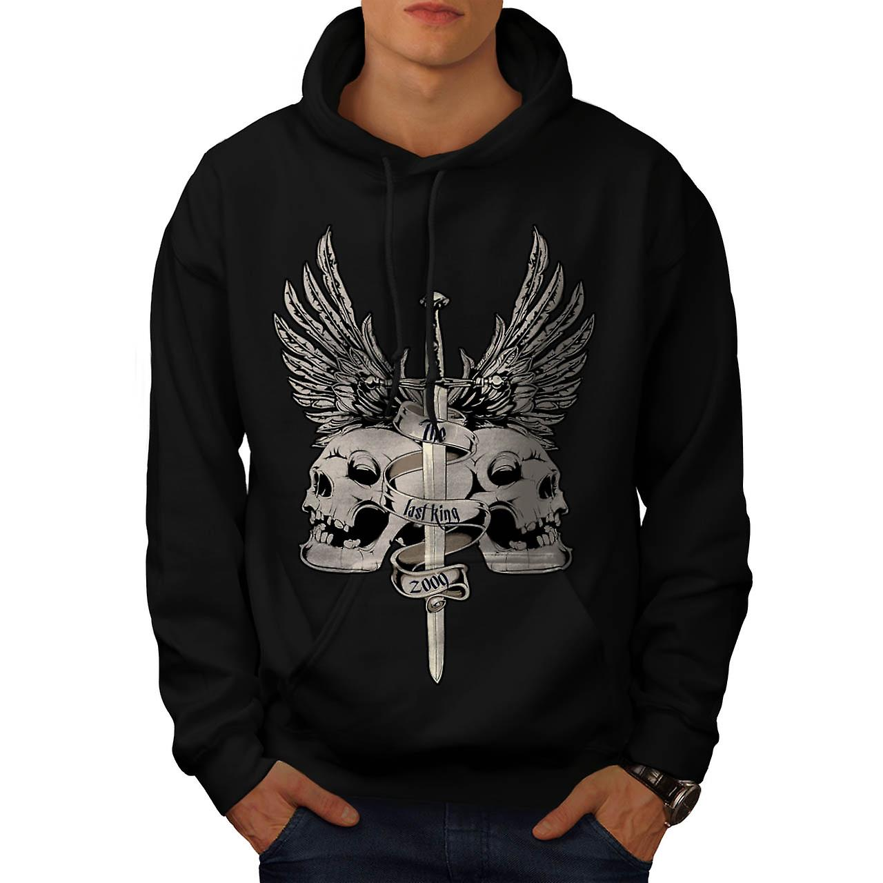 The Last King Leader Skull Rule Men Black Hoodie | Wellcoda