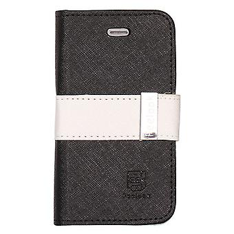 Cover Art-Leder-Portemonnaie mit magnetischen Verschluss-iPhone 4/4 s (schwarz)