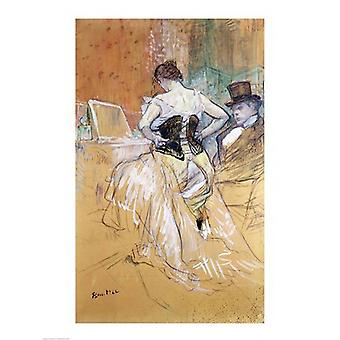 Woman at her Toilet study for Elles c1896 Poster Print by Henri de Toulouse-Lautrec