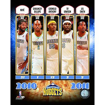 2010-11 Denver Nuggets equipe composto Photo Print
