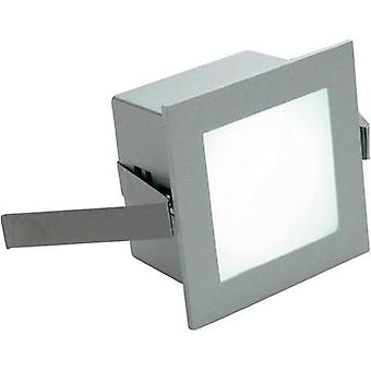 LED flush mount light 1 W Warm white SLV Frame Basic 113262 White (matt)