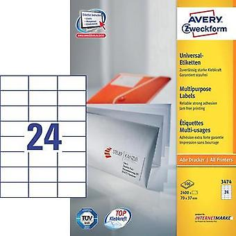 Avery Labels 3474 70X37Mm