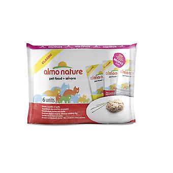 Almo Nature Classic Cat Pouch Multipack Chicken Selection 6 X 55g (Pack of 8)