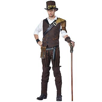 Steampunk Adventurer Victorian Steam Punk Professor Science Fiction Men Costume