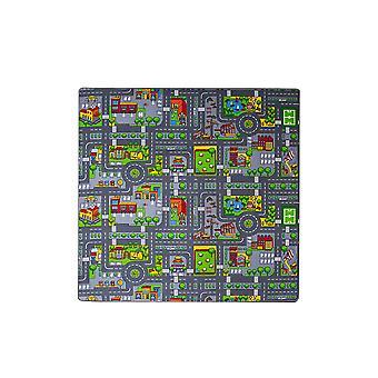 Colourful Fun Roads Children's Rug