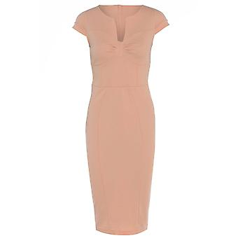 Get The Look Peach Sexy Pencil Dress With Seamed Bust