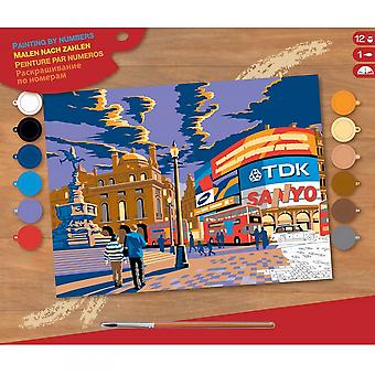 KSG London Picadilly CircusLarge Paint By Numbers