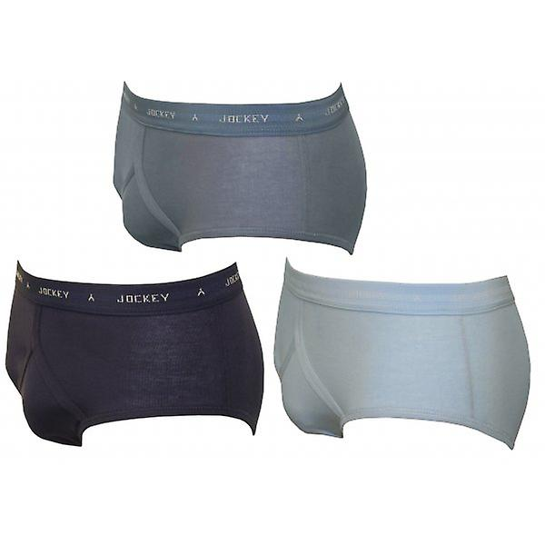 Jockey 3-Pack Classic Y-Front Briefs, Assorted Blues