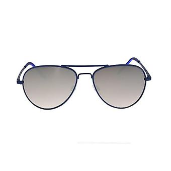 W.A.T Classic Blue Framed Mirrored Aviator Sunglasses