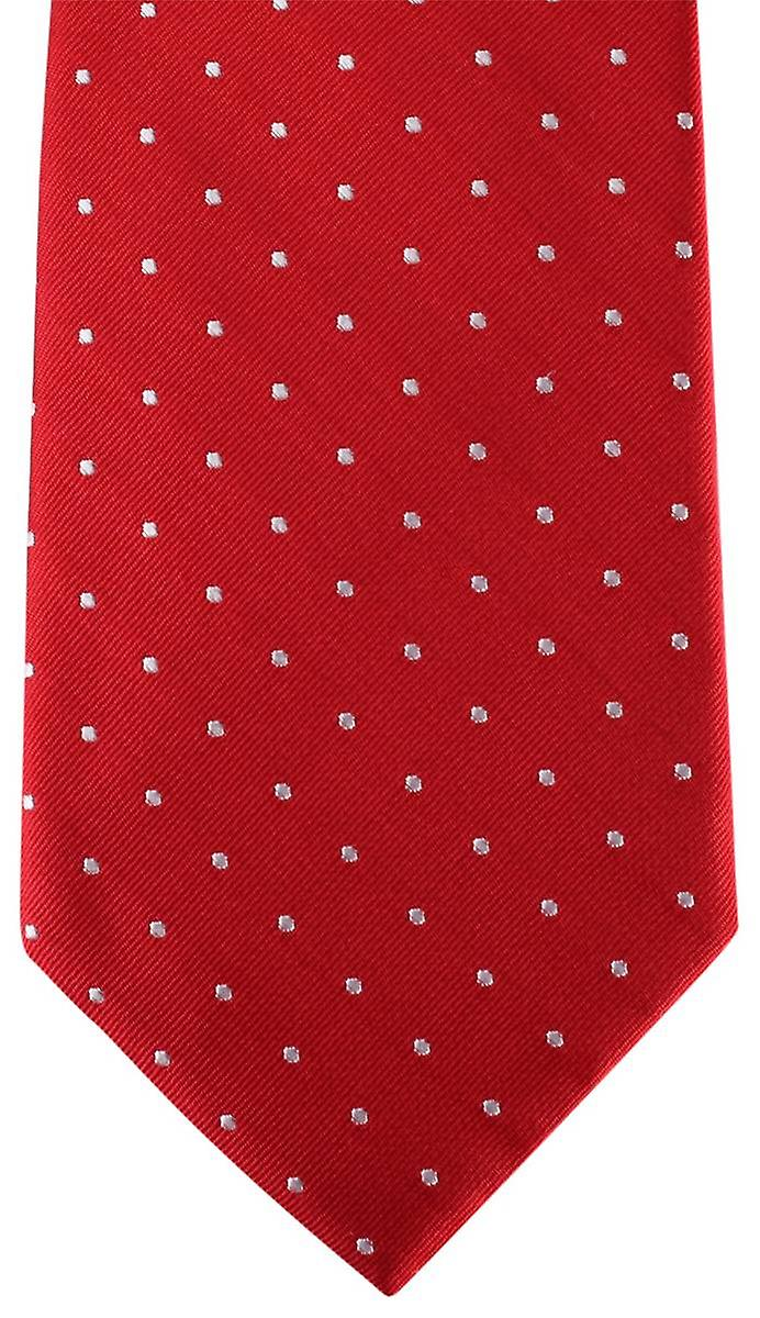 David Van Hagen Spotted Tie - Red/White
