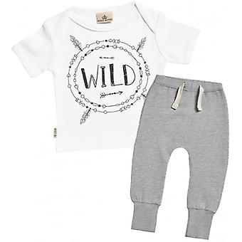 Spoilt Rotten Wild Print Baby T-Shirt & Joggers Outfit Set