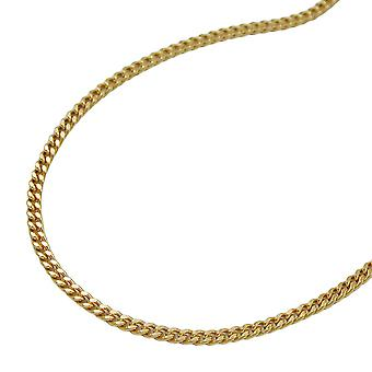 Necklace shell necklace, chain 50 cm, 9 KT GOLD 375