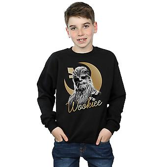 Star Wars Boys The Last Jedi Gold Chewbacca Sweatshirt