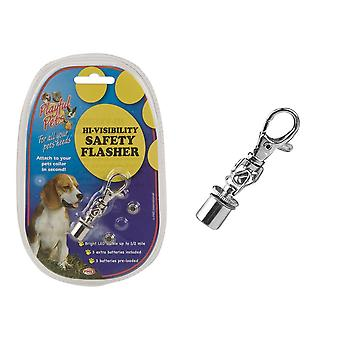 Playful Pets Hi-visibility Safety Flasher Dog Cat Light Clip Lead Accessory