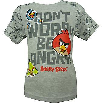 Boys Angry Birds Short Sleeve Top