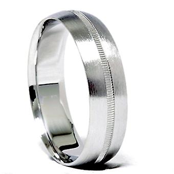 Men 6mm Gold Comfort Fit Satin Wedding Band New Ring
