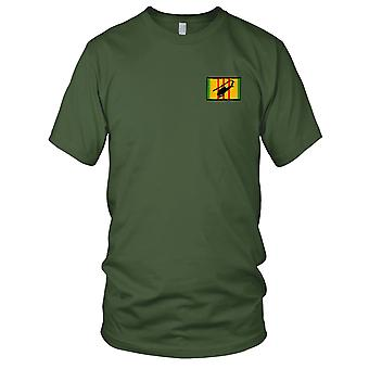 Huey Diving Silhouette On Vietnam Service Ribbon Embroidered Patch - Ladies T Shirt