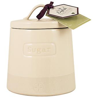 English Tableware Co. Artisan Sugar Canister, Cream