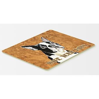 Carolines Treasures  SC9140CMT Boston Terrier Kitchen or Bath Mat 20x30